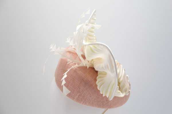 Pink duchess cocktail hat by Sydney milliner Abigail Fergusson Millinery