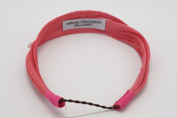 Pink headband with Swarovski crystals by Sydney milliner, Abigail Fergusson Millinery