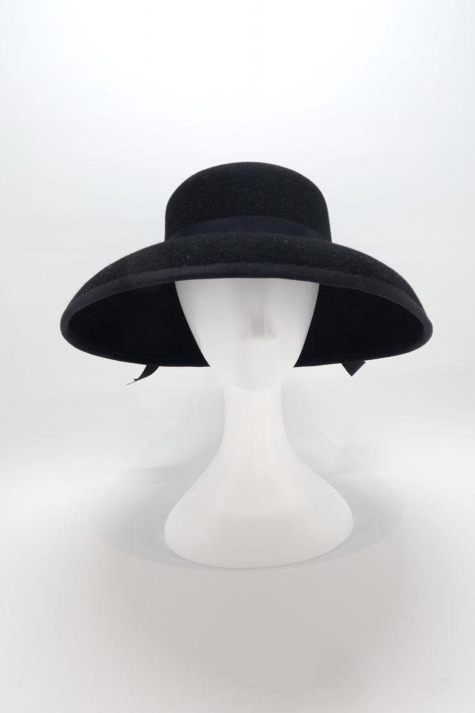 Dior style black felt hat by Sydney Milliner, Abigail Fergusson