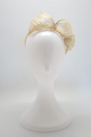 Ivory headband with Swarovski details