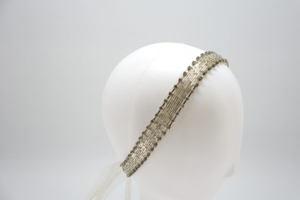 Bridal Tulle Headband with crystals by Sydney millinery, Abigail Fergusson Millinery