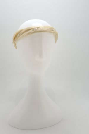 Ivory headband with Swarovski crystals