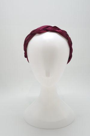 Plaited silk abaca headband ny Sydney milliner Abigail Fergusson